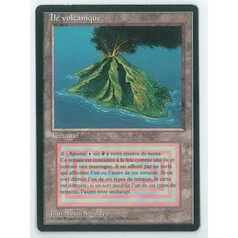 Magic the Gathering 3rd Ed (FBB) Single Volcanic Island (French) - SLIGHT PLAY (SP)