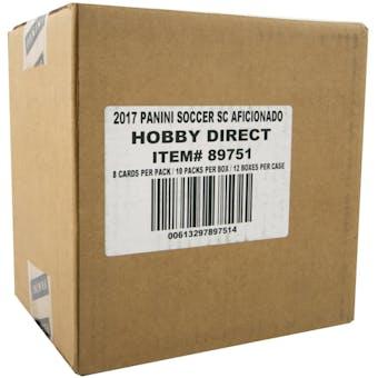 2017 Panini Aficionado Soccer Hobby 12-Box Case