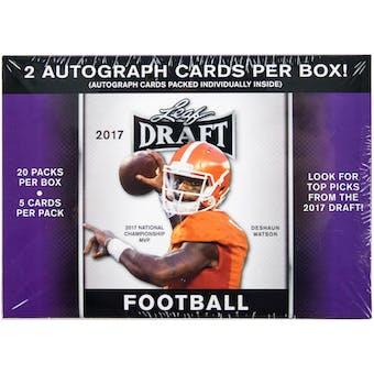 2017 Leaf Draft Football 20-Pack Box (2 Autographs Per Box!)