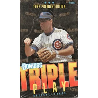 1992 Donruss Triple Play Baseball Jumbo Box
