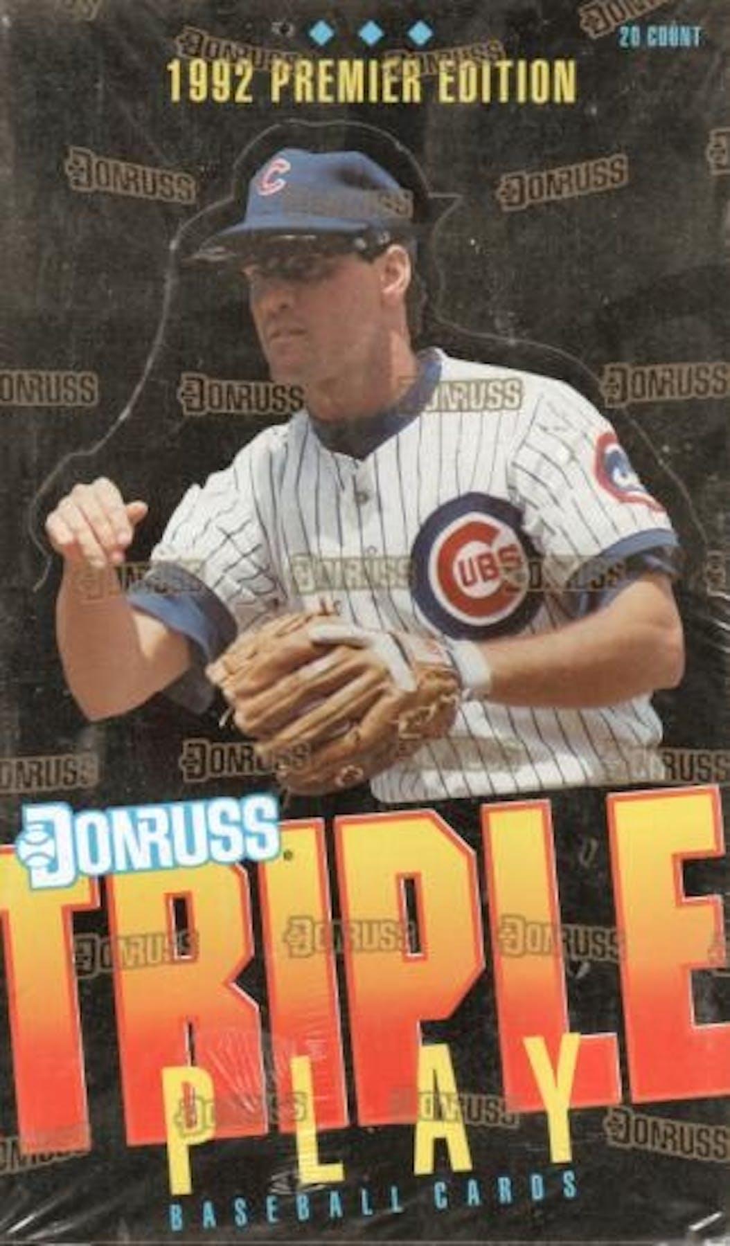 1992 Donruss Triple Play Baseball Jumbo Box Da Card World