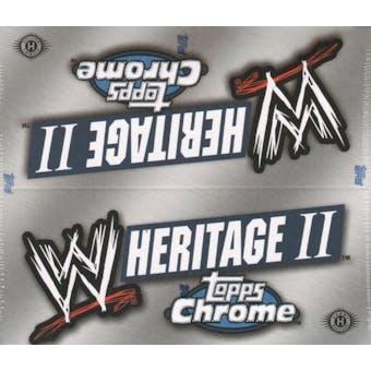 2007 Topps WWE Heritage II Chrome Wrestling Hobby Box