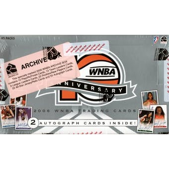 2006 Rittenhouse WNBA 10th Anniversary Archive Basketball Hobby Box