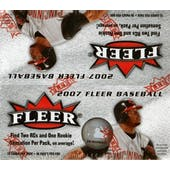 2007 Fleer Baseball 36 Pack Box