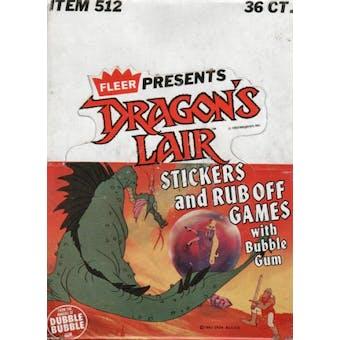 Dragon's Lair Wax Box (1984 Fleer)