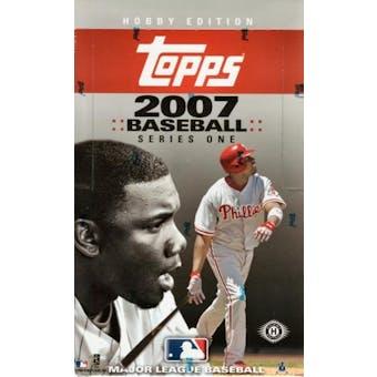 2007 Topps Series 1 Baseball Hobby Box