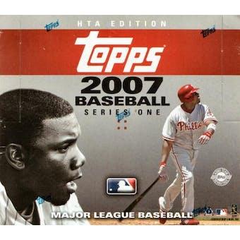 2007 Topps Series 1 Baseball Jumbo Box