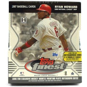 2007 Topps Finest Baseball Hobby Box