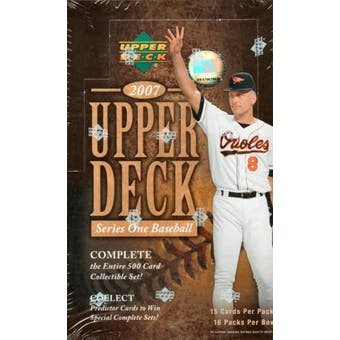 2007 Upper Deck Series 1 Baseball Hobby Box