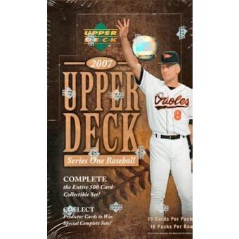 2007 Upper Deck Series 1 Baseball Hobby Box