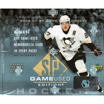 2006/07 Upper Deck SP Game Used Hockey Hobby Box
