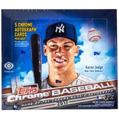 2017 Topps Chrome Baseball Hobby Jumbo Box