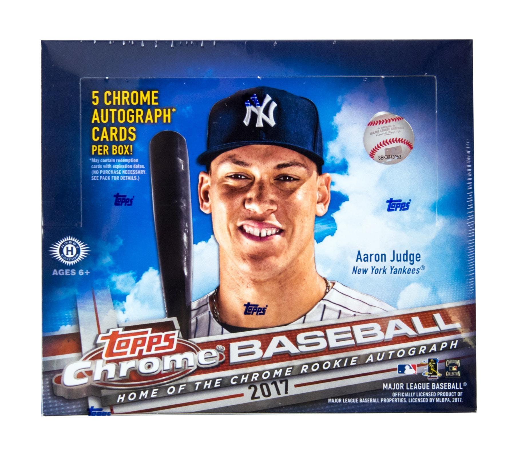 2017 Topps Chrome Baseball Hobby Jumbo Box Da Card World