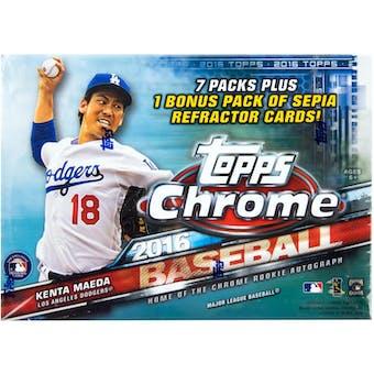 2016 Topps Chrome Baseball 8-Pack Box