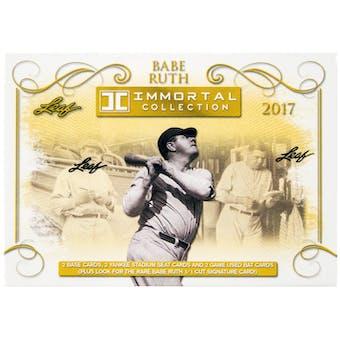 2017 Leaf Babe Ruth Immortal Collection Baseball Hobby Box