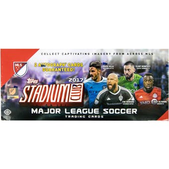 2017 Topps Stadium Club MLS Soccer Hobby Box