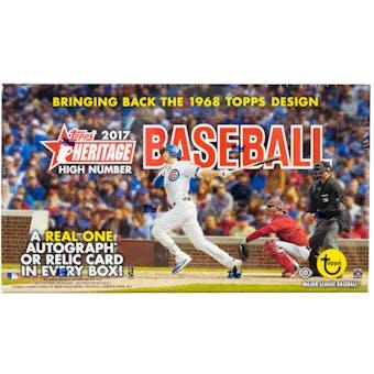 2017 Topps Heritage High Number Baseball Hobby Box