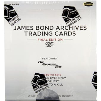 James Bond Archives The Final Edition Trading Cards Box (Rittenhouse 2017)