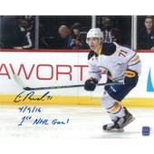 Evan Rodrigues Autographed Buffalo Sabres 8x10 Inscription Photo
