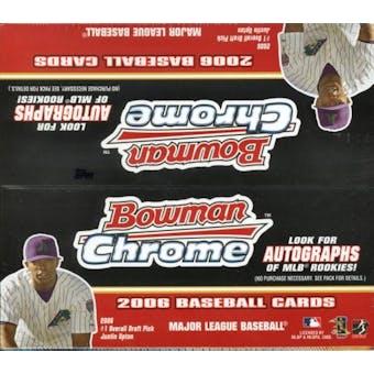 2006 Bowman Chrome Baseball 24 Pack Box