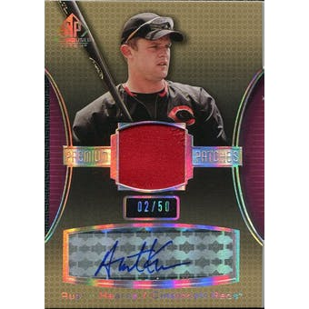 2004 SP Game Used Patch Premium Autograph #AK Austin Kearns 2/50
