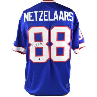 Pete Metzelaars Autographed Buffalo Bills Football Jersey