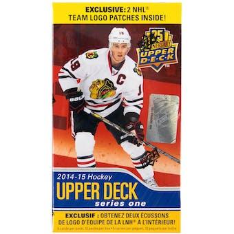 2014/15 Upper Deck Series 1 Hockey 12-Pack Box (PLUS 2 Team Logo Patches!)