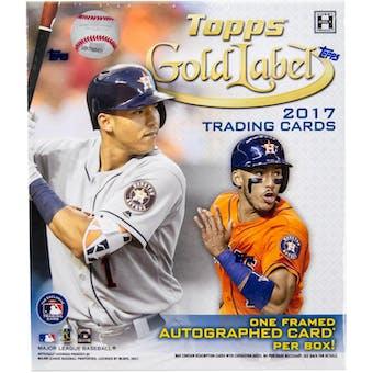 2017 Topps Gold Label Baseball Hobby Box