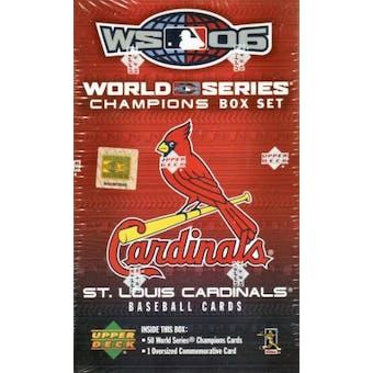 2006 Upper Deck Baseball World Champions Cardinals Hobby Set (Box)
