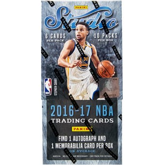 2016/17 Panini Studio Basketball Hobby Box
