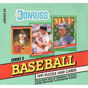 1991 Donruss Series 2 Baseball Cello Box