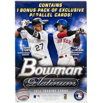 2016 Bowman Platinum Baseball 8-Pack Box