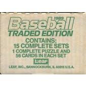 1989 Donruss Traded Baseball Factory 15-Set Case