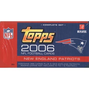 2006 Topps Football Factory Set (Box) (New England Patriots)
