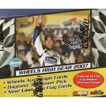 2007 Press Pass Wheels High Gear Racing Hobby Box