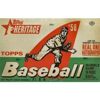 2007 Topps Heritage Baseball Hobby Box