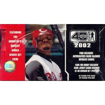 2002 Upper Deck 40 Man Baseball Hobby Box