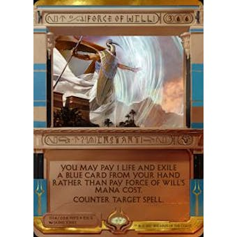 Magic the Gathering Amonkhet Invocation Single Force of Will FOIL -  NEAR MINT (NM)