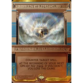 Magic the Gathering Amonkhet Invocation Single Pact of Negation FOIL - NEAR MINT (NM)