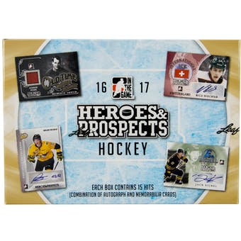 2016/17 Leaf In The Game Heroes & Prospects Hockey Hobby Box