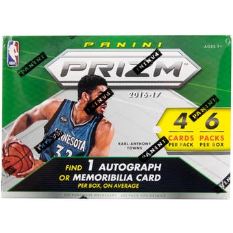2016/17 Panini Prizm Basketball 6-Pack Blaster Box
