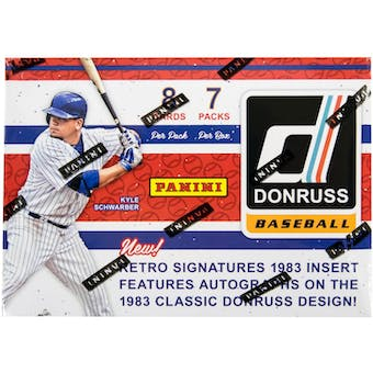 2017 Panini Donruss Baseball 7-Pack Box