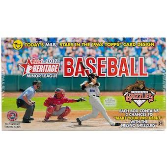 2017 Topps Heritage Minor League Baseball Hobby Box