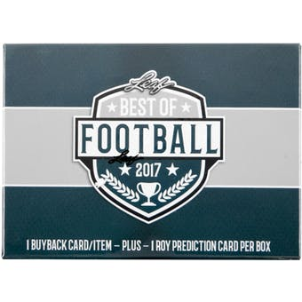 2017 Leaf Best Of Football Hobby Box