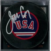 Jim Craig Autographed USA Hockey Puck Miracle on Ice (DACW COA)