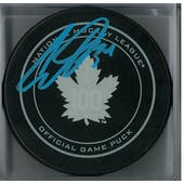 Auston Matthews Autographed Toronto Maple Leafs Official Puck (Fanatics COA)