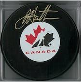 Dougie Hamilton Autographed Canada Hockey Puck (Frameworth COA)