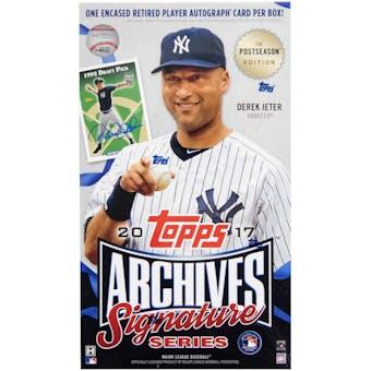 2017 Topps Archives Signature Series Postseason Edition Baseball Hobby Box