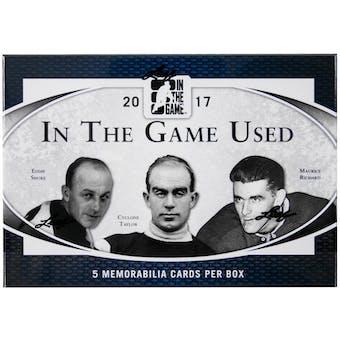2017 Leaf In The Game Used Hockey Hobby Box