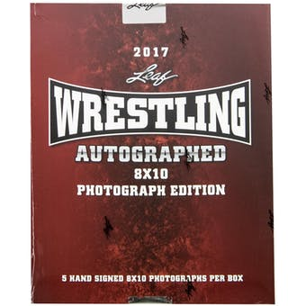 2017 Leaf Wrestling Signed 8x10 Photo Edition Hobby Box